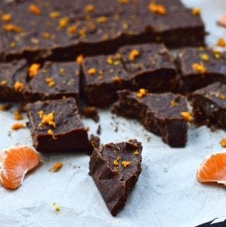 Paleo Dark Chocolate Orange Fudge (Paleo, GAPS, Vegan)
