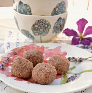 Paleo Chocolate Raspberry Macaroons (Paleo, Dessert, No Added Sweetener)