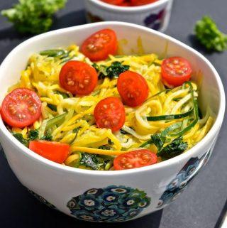 "Simple Summer Zucchini and Tomato ""Pasta"" (Paleo, SCD, GAPS, Gluten Free)"