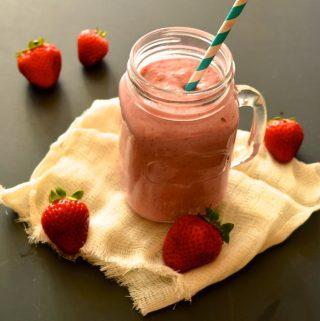 Dairy Free Strawberry Milkshake (Paleo, AIP, GAPS, SCD, Whole 30, Vegan)