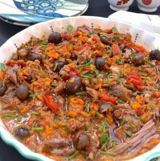Slow Cooker Sweet Potato and Black Olive Beef Roast (Low FODMAP, Paleo, Gluten Free)