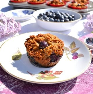 Paleo Banana Coconut Blueberry Muffins (AIP, Gluten Free, Nut Free)