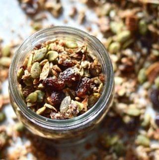 Slightly Sweet Grain Free Granola (Paleo, Nut Free, Vegan, SCD, GAPS, Whole 30)