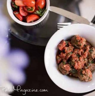 Italian Meatballs with Tomato Basil Sauce (Paleo, Whole 30, GAPS, SCD, low FODMAP)