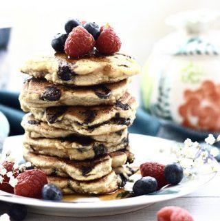 Paleo Silver Dollar Chocolate Chip Pancakes (Gluten Free, Grain Free, Dairy Free, Nut Free)