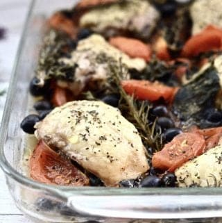 Baked Tomato and Olive Chicken (Paleo, Whole 30, GAPS, SCD, low FODMAP, Gluten Free)
