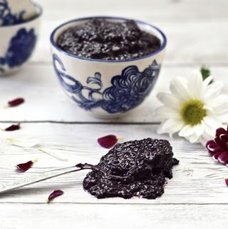 Blueberry Coconut Chia Seed Jam (Paleo, Gluten Free, Sugar Free, Whole 30, Vegan)