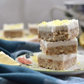 Paleo Lemon and Coconut Cheesecake Bars (Paleo, Gluten Free, SCD, GAPS, Vegan)