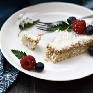 Paleo Lemon and Vanilla Cheesecake (SCD, GAPS, Vegan, Gluten Free)