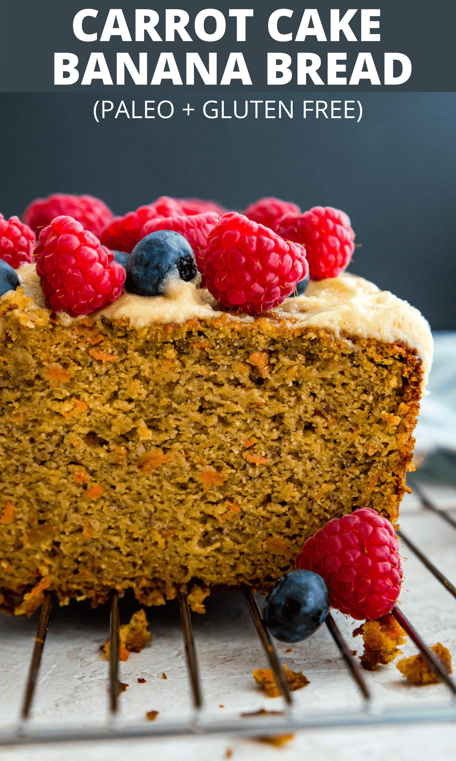 Carrot cake banana bread Pinterest image