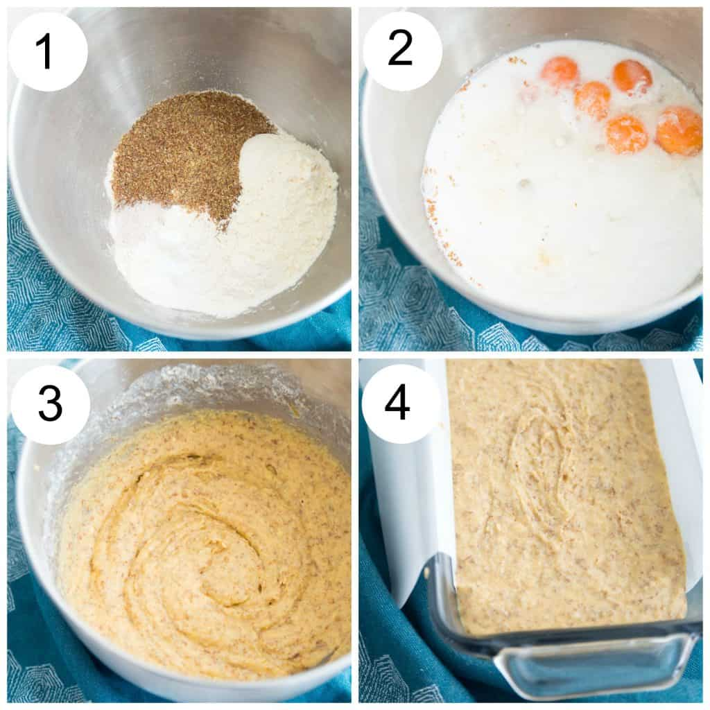 Directions for making paleo bread