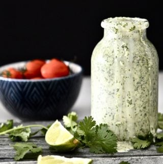 Whole 30 Cilantro Lime Dressing (Paleo, AIP, Vegan, GAPS, SCD, Dairy Free)