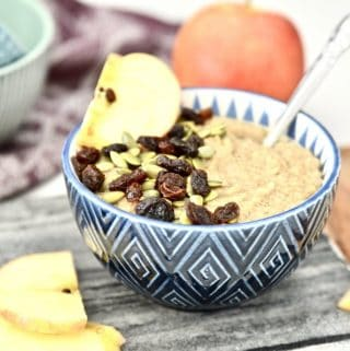 Paleo Caramel Apple Oatmeal