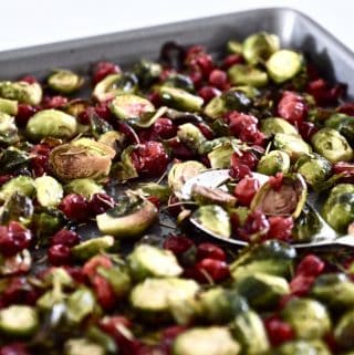Maple Cranberry Brussels Sprouts (Paleo, Vegan, AIP)