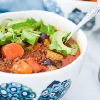 Whole30 Slow Cooker Chili with Blueberries (Paleo, GAPS, SCD)
