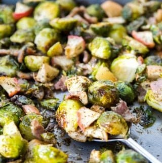 Whole30 Roasted Apple Bacon Brussels Sprouts (Paleo, AIP, SCD, GAPS)
