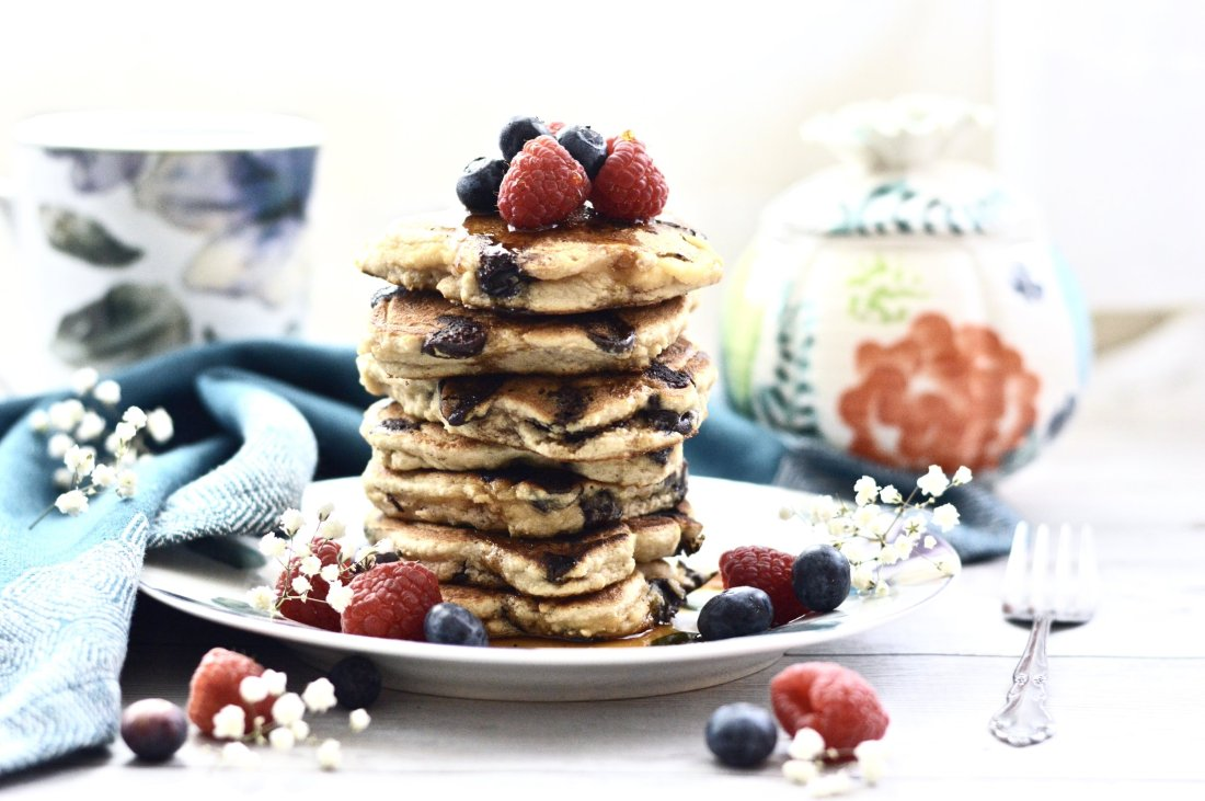 Paleo Chocolate Chip Pancakes