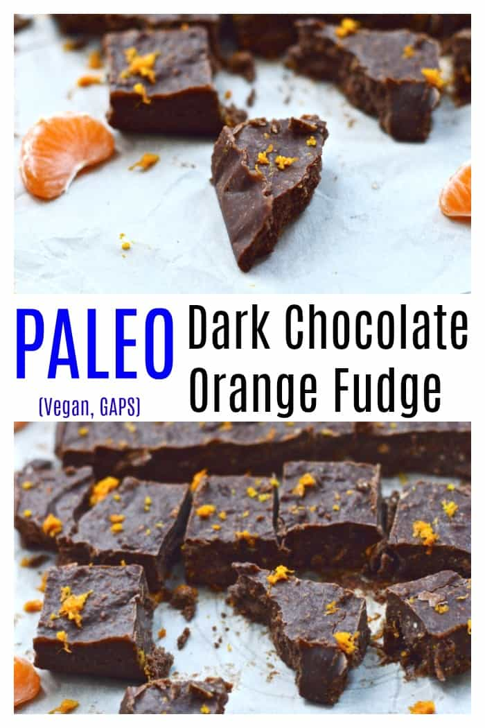Chocolate Orange Fudge is the best chocolate fudge recipe you will ever try. Its easy to make and healthy, made with cacao or cocoa powder and honey. It's dairy free so it's vegan, paleo and GAPS safe. #fudge #chocolate