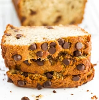 Gluten Free Chocolate Chip Banana Bread (Paleo, Grain Free, Dairy Free)