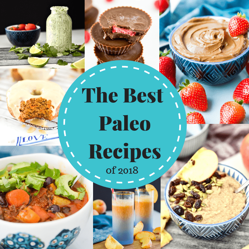 A collage of images of the best paleo recipes of 2018