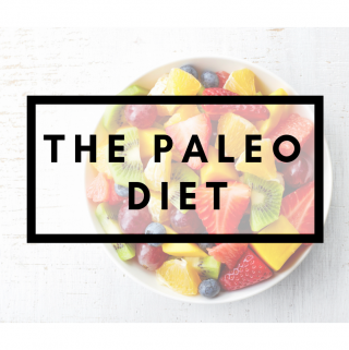 A bowl of fruit with the title The Paleo Diet
