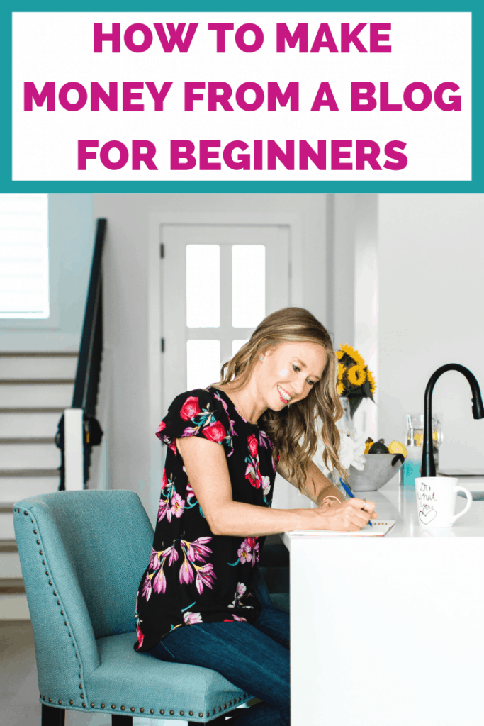 How to make money from a blog for beginners. This is how I started making six figures from blogging without a lot of traffic and without something to sell. #blogging #bloginformation #blogresources