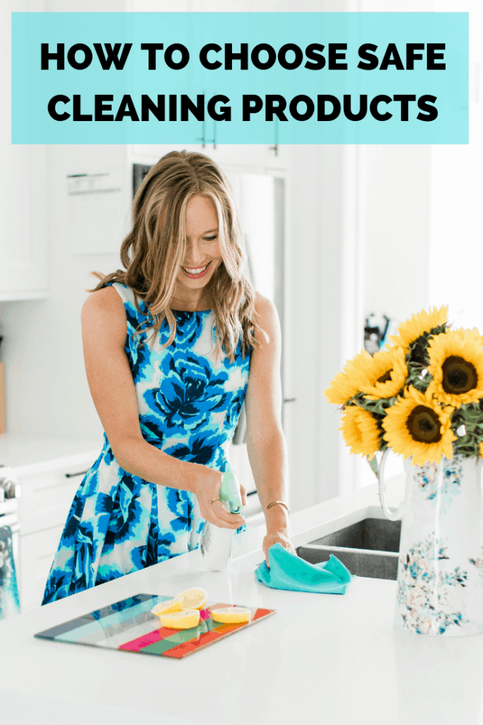 Erin Carter cleaning her kitchen