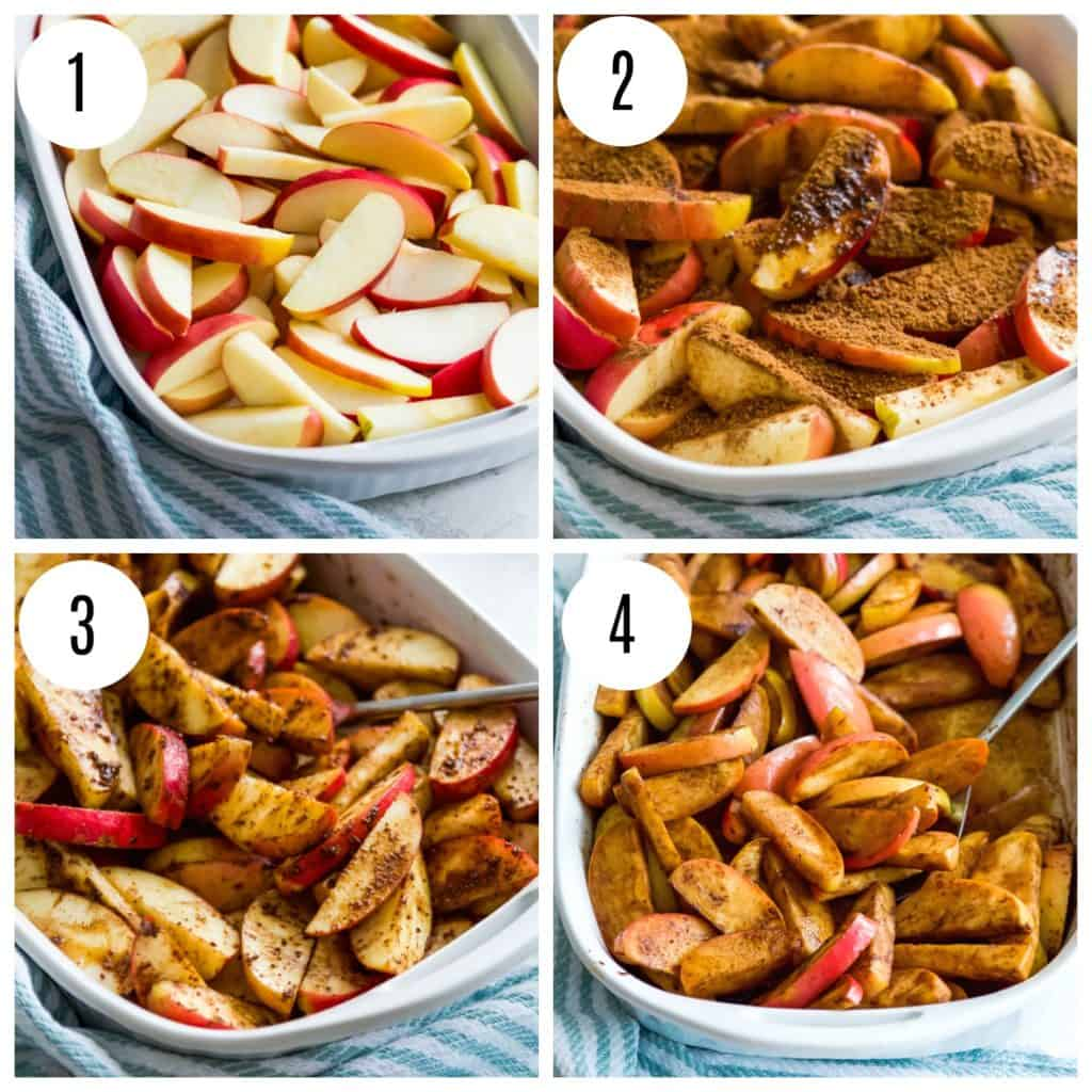 Step by step directions for making baked apples