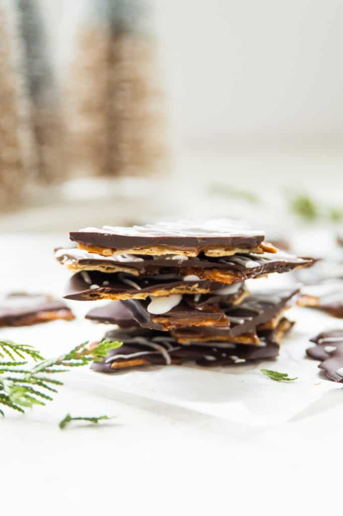 A stack of Christmas crack