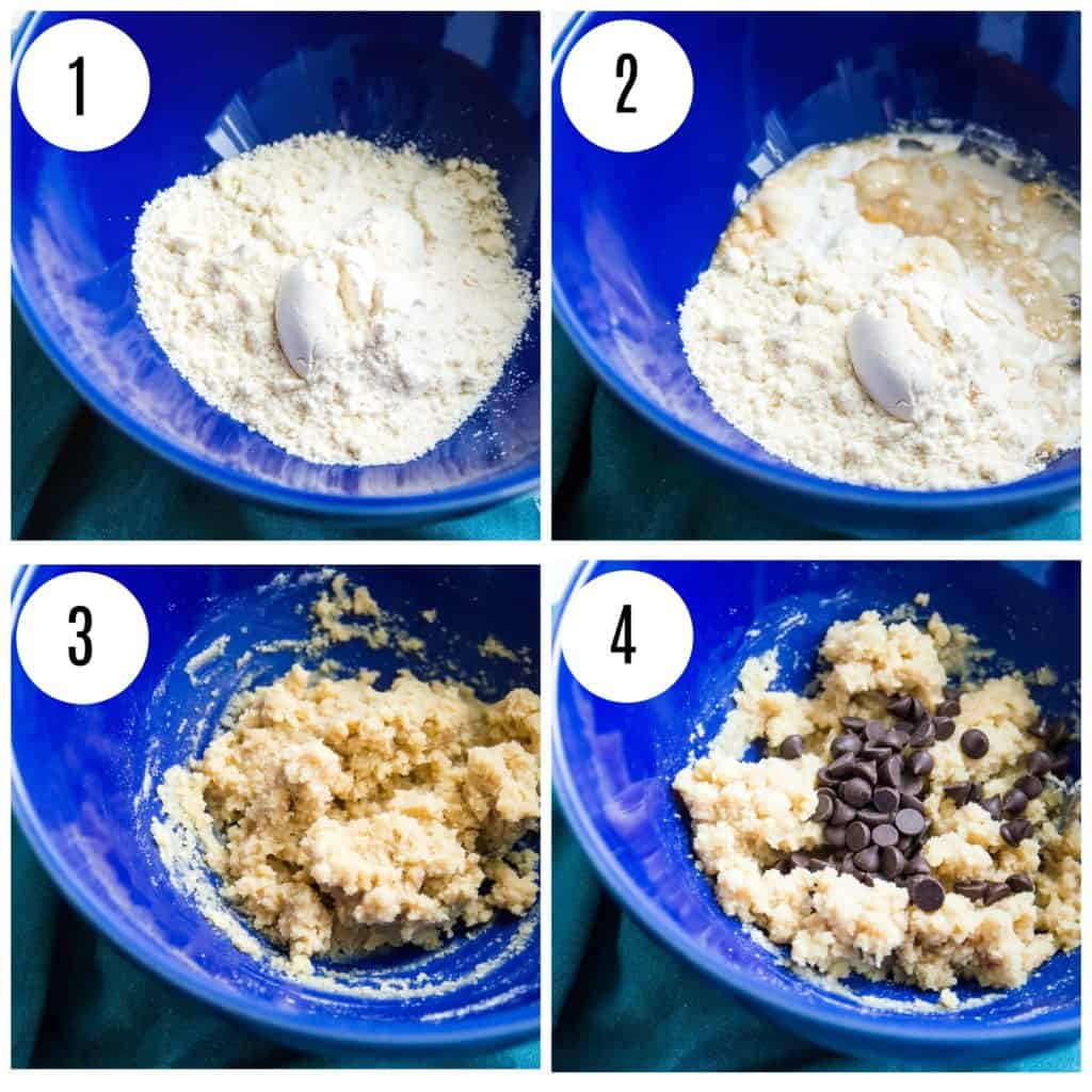 Step by step directions for making edible cookie dough