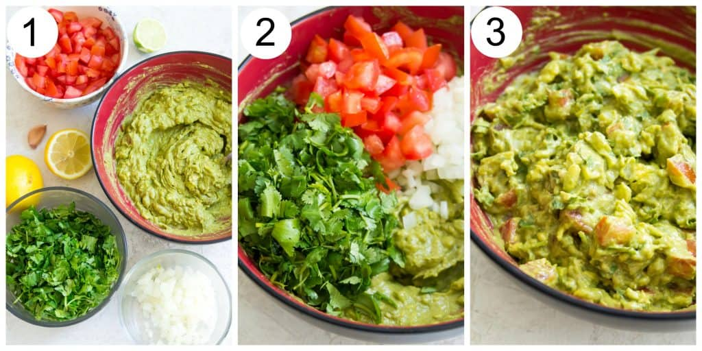 Directions for making guacamole