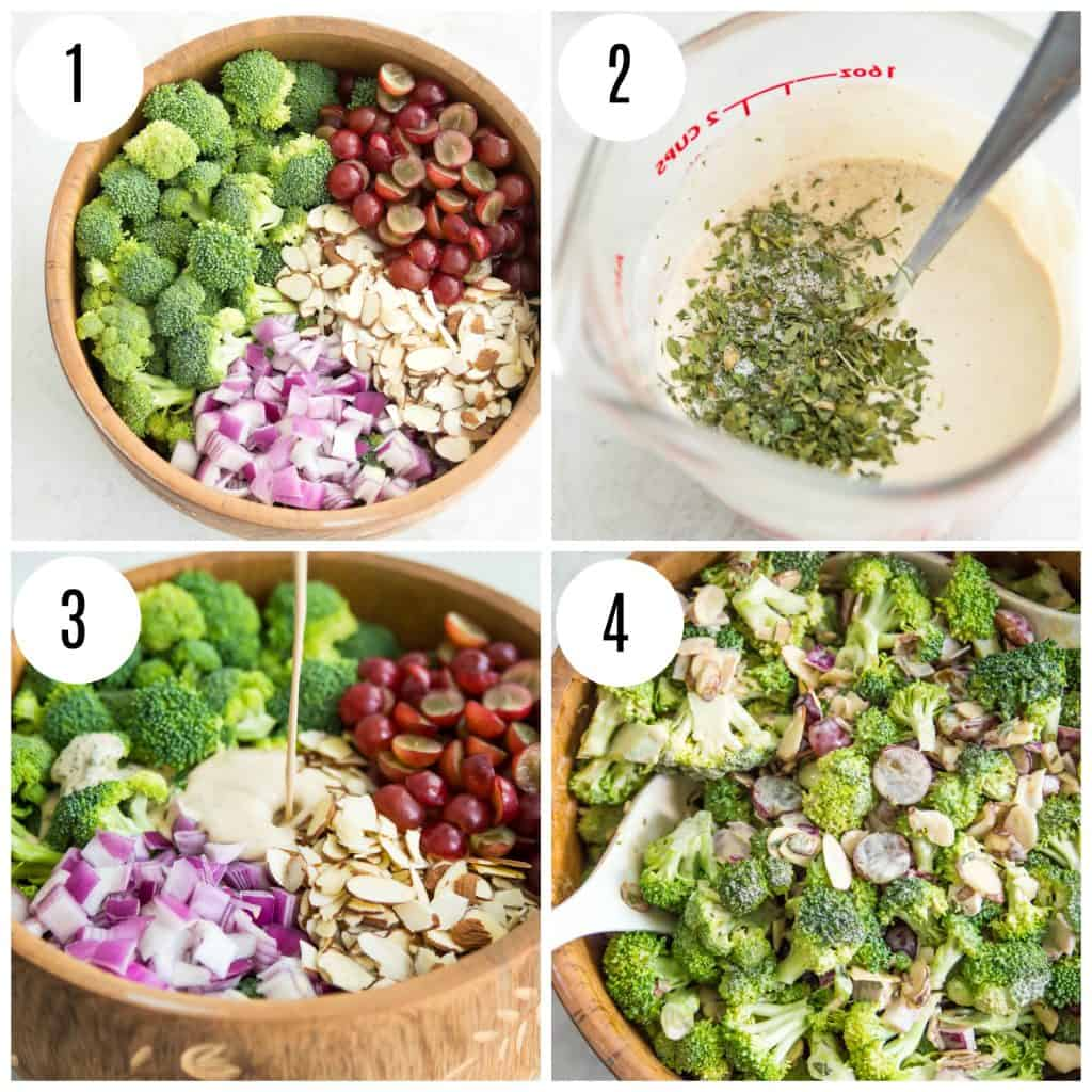 Directions for making broccoli salad