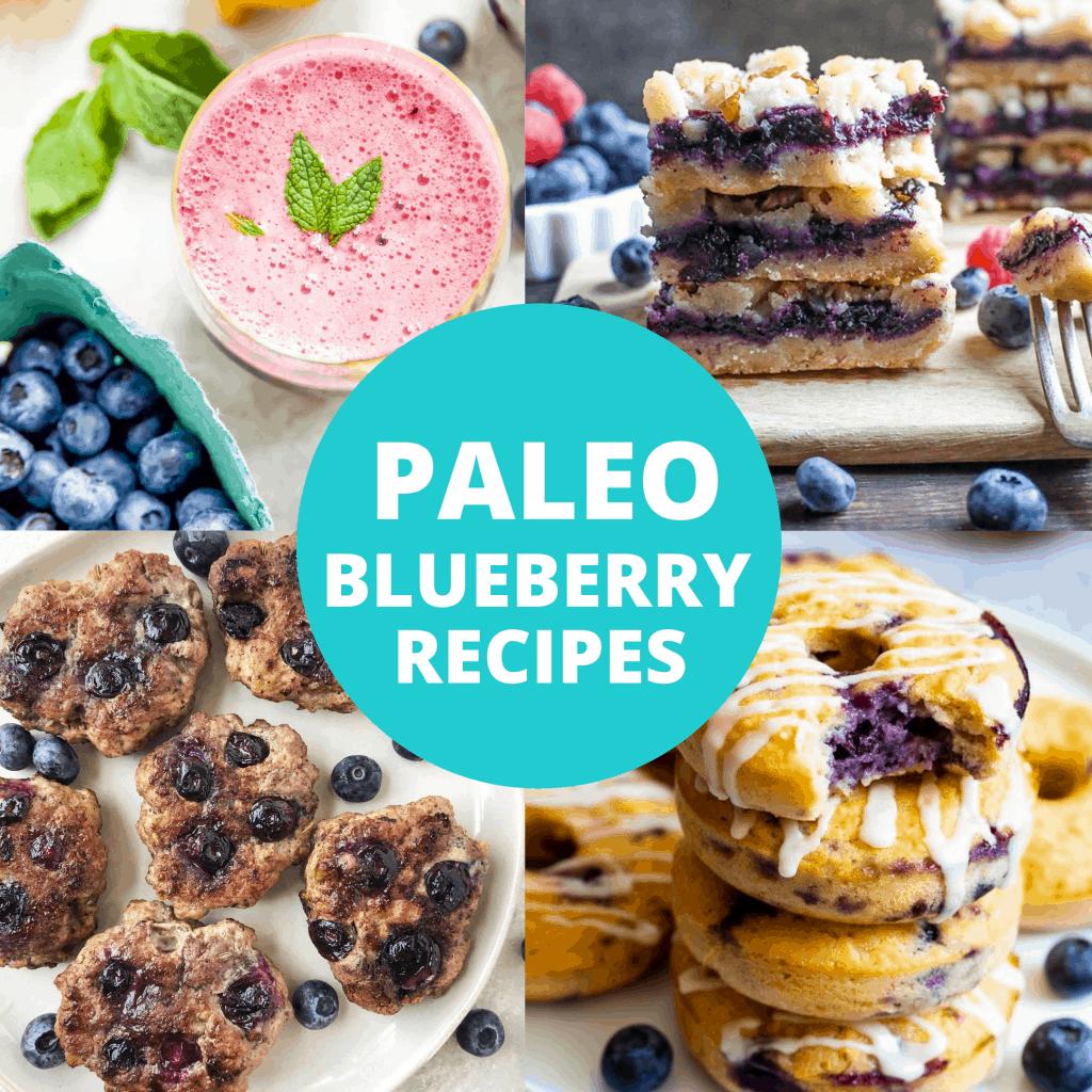 paleo blueberry recipes title image