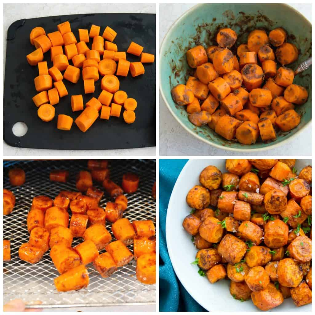 Directions for making sweet air fryer carrots