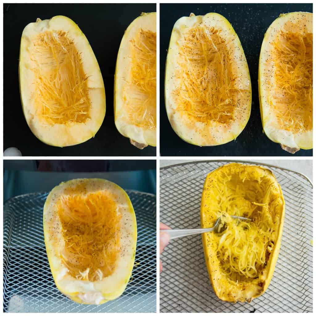 Directions for making air fryer spaghetti squash