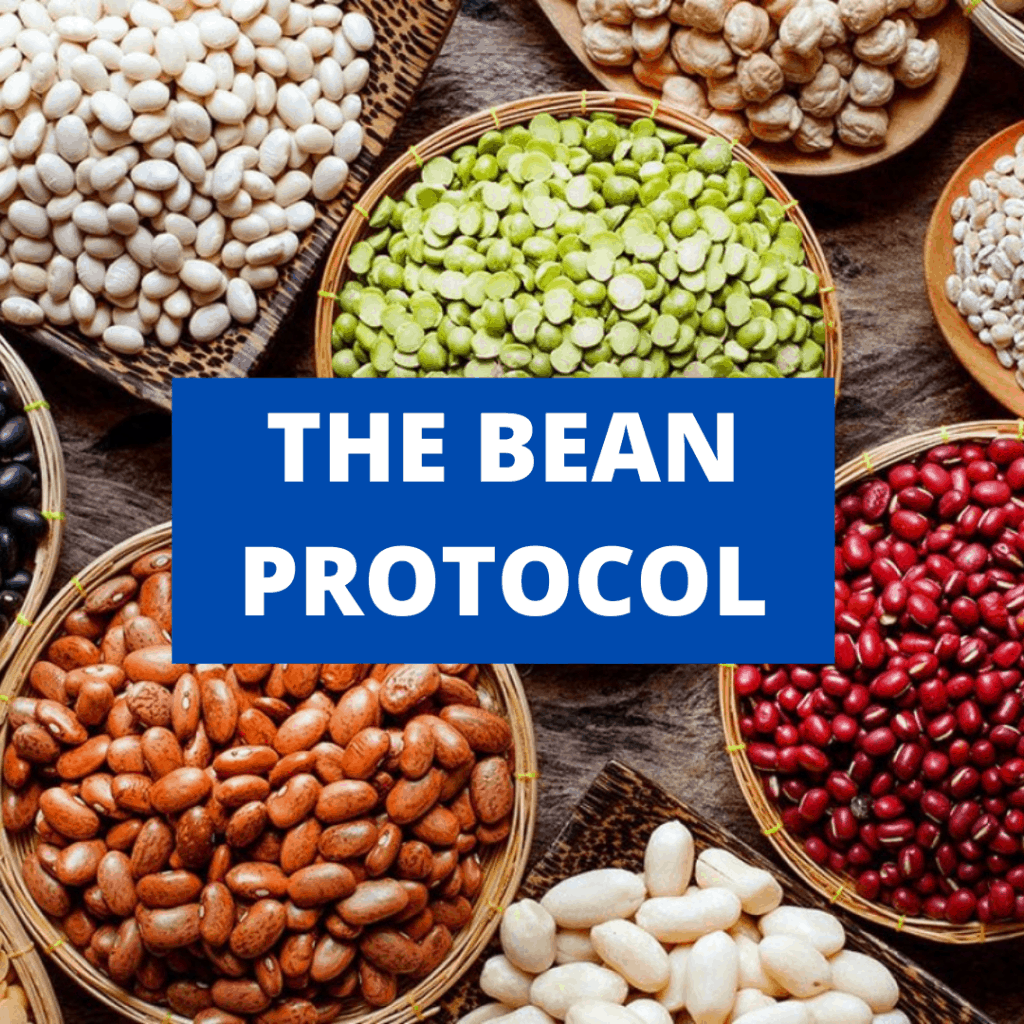 "Bowls filled with different kinds of beans with the title ""the bean protocol"" written over top"