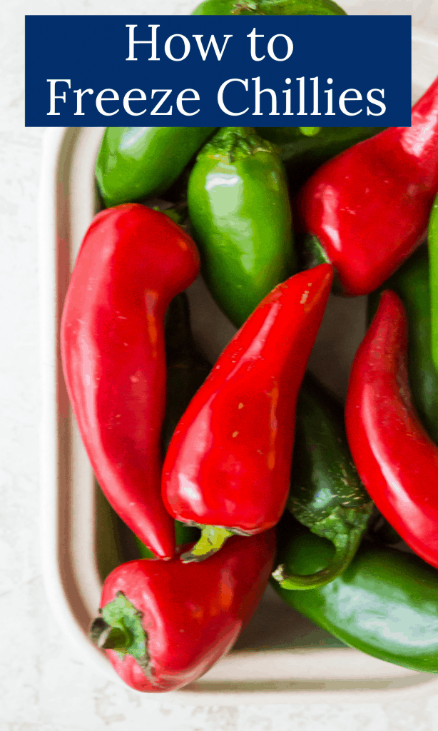 How to freeze chillies Pinterest image