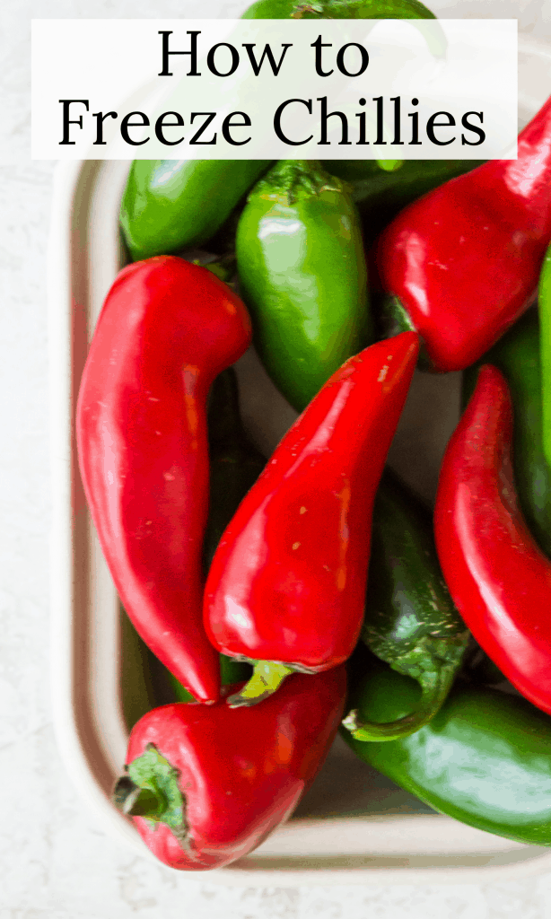 How to freeze chillies title image