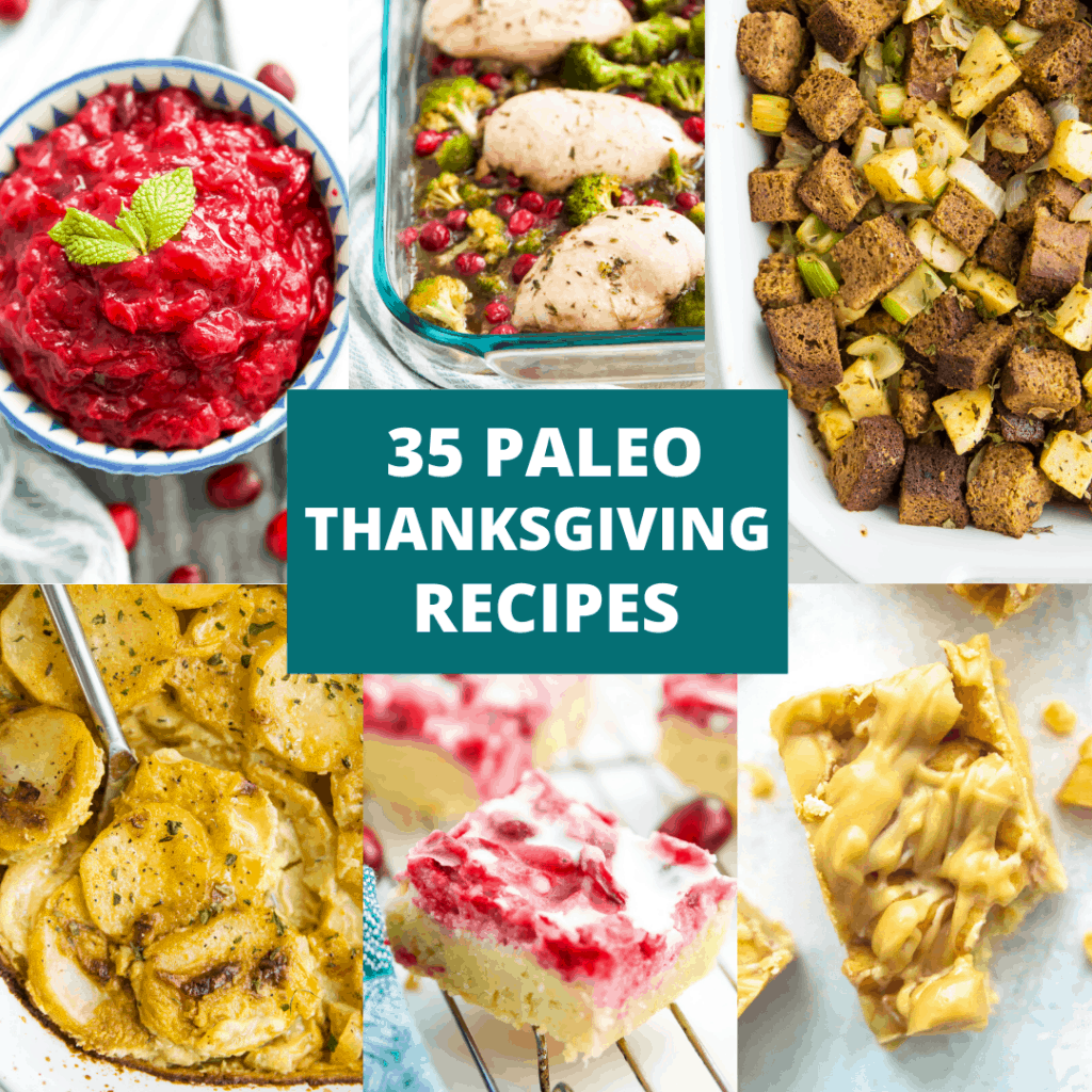 A title image for paleo Thanksgiving recipes