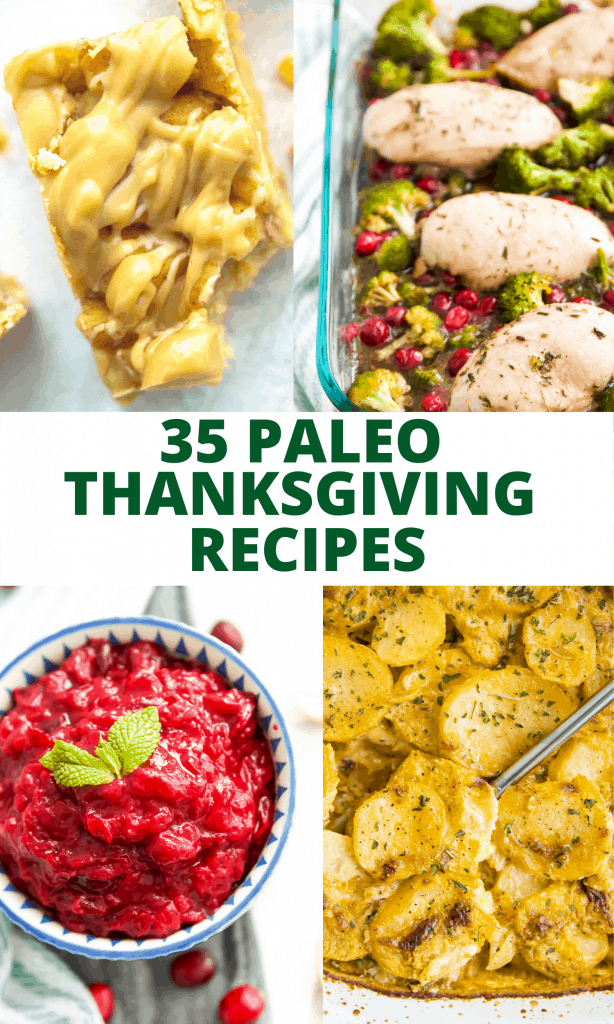 Title image for paleo thanksgiving recipes