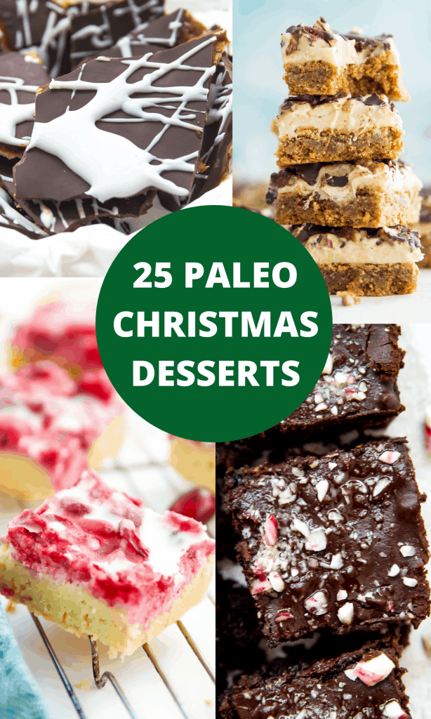 Title image for paleo Christmas desserts round up