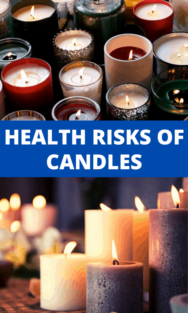 Health risks of candles pinterest image