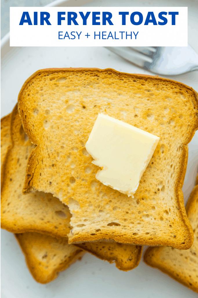 Air fryer toast pinterest image