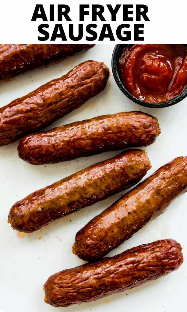 Air Fryer Italian Sausages Pinterest Image