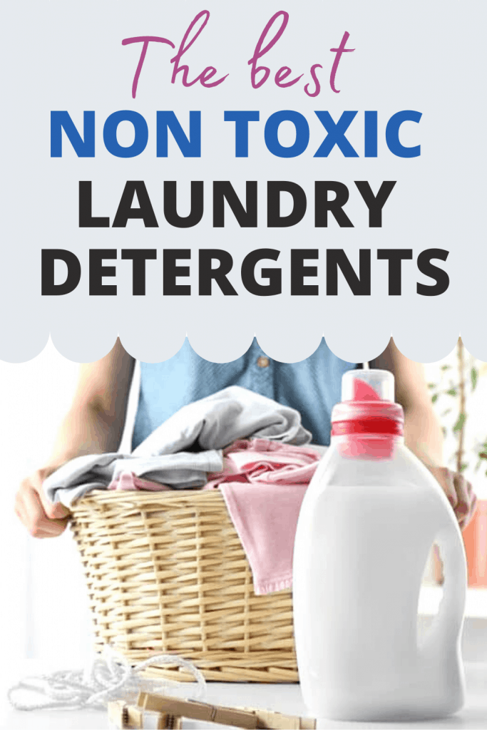 How to choose non toxic laundry detergent Pinterest image