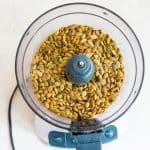 pumpkin seeds in food processor