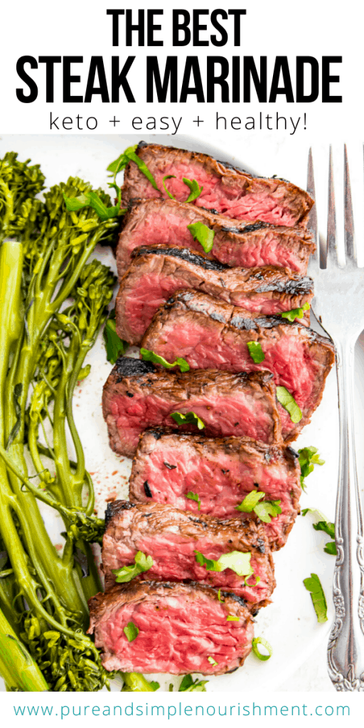 keto steak marinde pinterest image