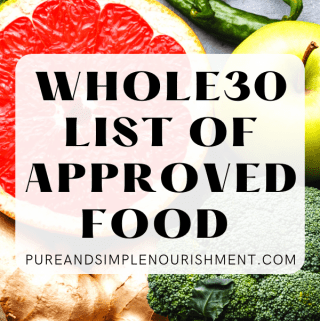 Whole30 List of Approved Food